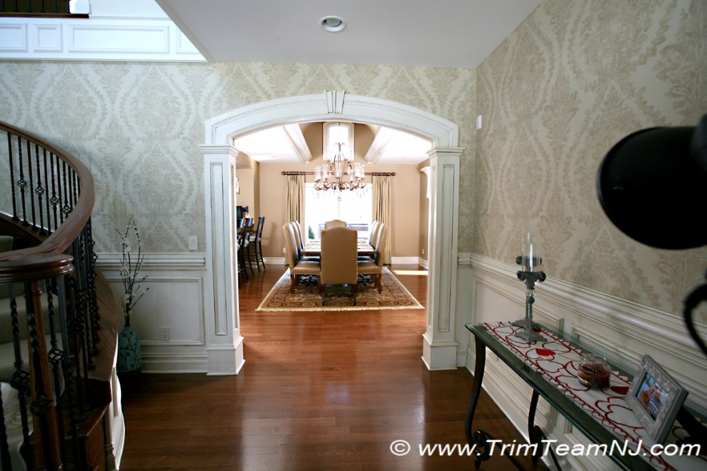 Foyer Room Jersey : Doorways and archways trim team nj woodwork fireplace