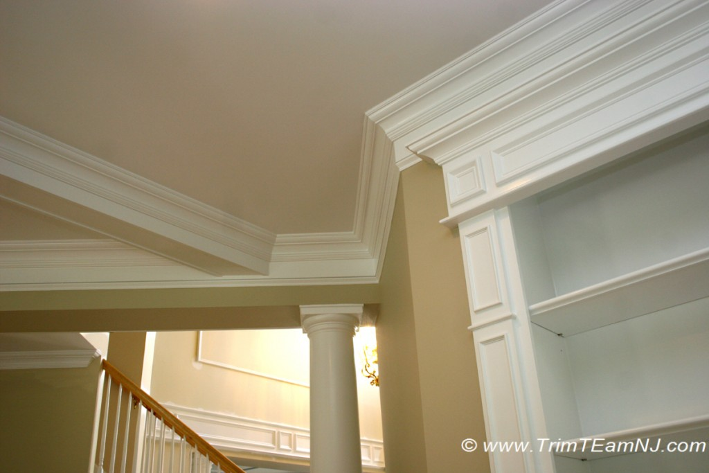 how to build a coffered ceiling with box beams