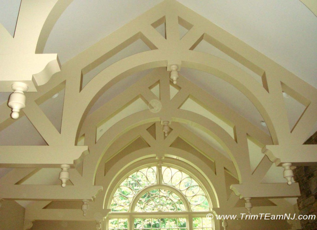 Coffered ceilings and beams trim team nj woodwork for Decorative ceilings