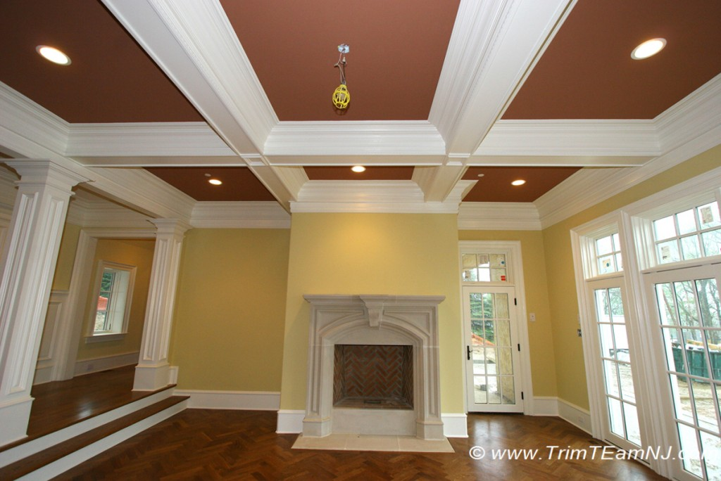 Coffered Ceilings And Beams Trim Team Woodworking