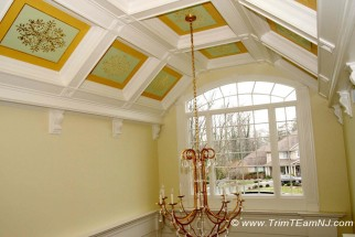 Coffered Ceilings And Beams | Trim Team NJ U2013 Woodwork, Fireplace Mantels,  Home Improvement