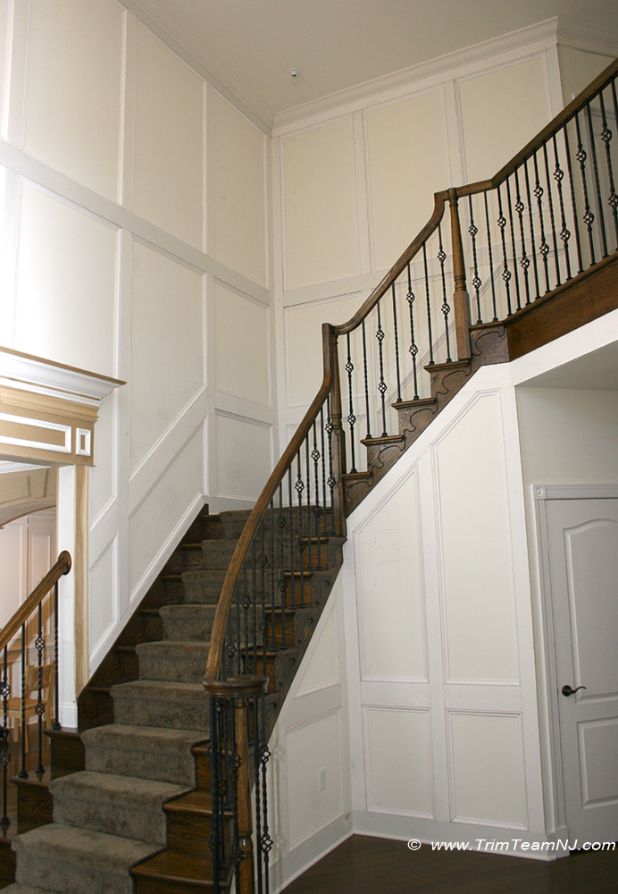 Foyer Panel Design : Wainscot and picture frames trim team nj woodwork