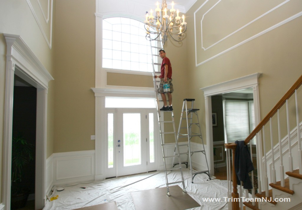 Foyer Molding Ideas : On the job trim team nj woodwork fireplace mantels